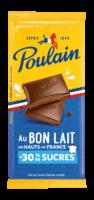 Poulain - Tablette de chocolat au lait bio -30% de sucre