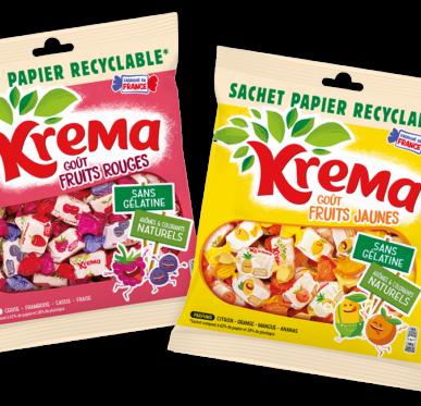 Krema dans son nouveau sachet Recyclable